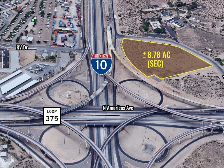 N Americas & I-10 (Land)